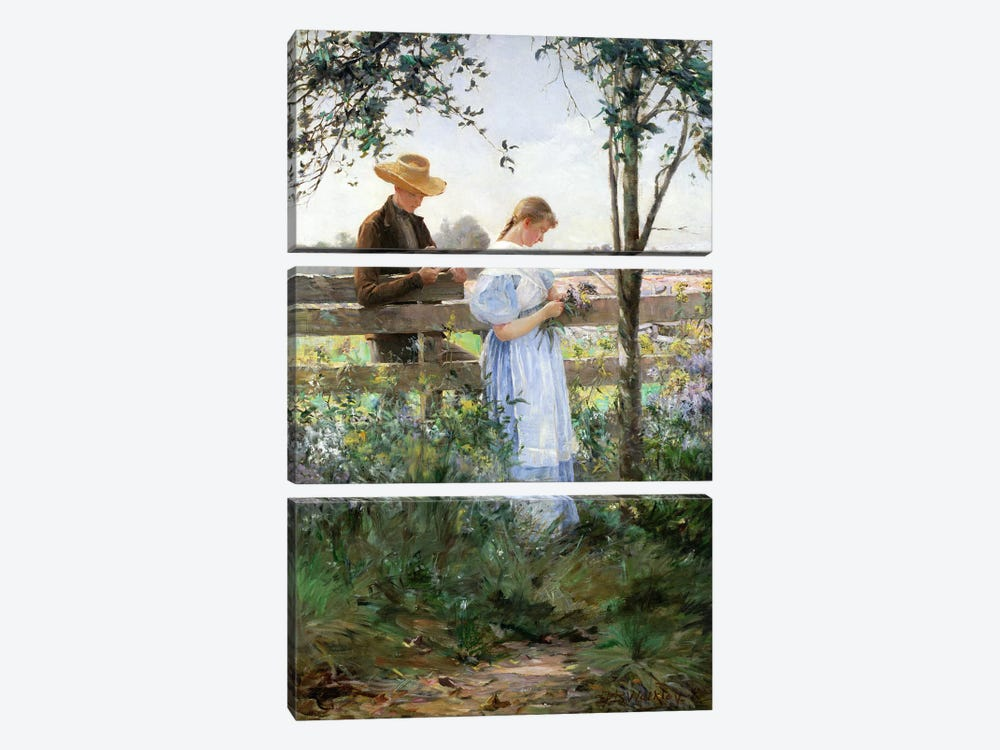 A Country Romance by David B. Walkley 3-piece Art Print