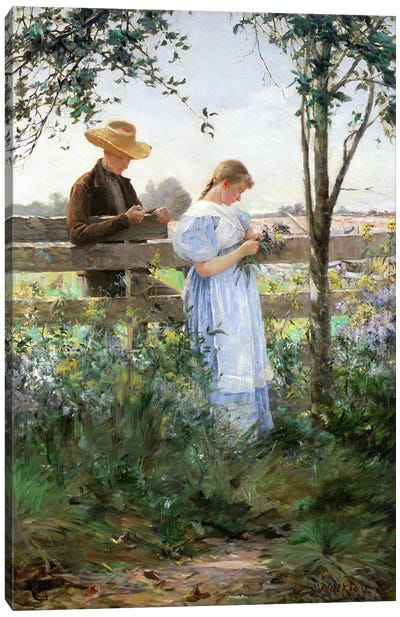 A Country Romance  Canvas Art Print