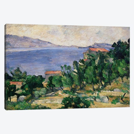 View of Mount Marseilleveyre and the Isle of Maire, c.1882-85  Canvas Print #BMN2297} by Paul Cezanne Canvas Wall Art