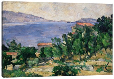View of Mount Marseilleveyre and the Isle of Maire, c.1882-85  Canvas Art Print