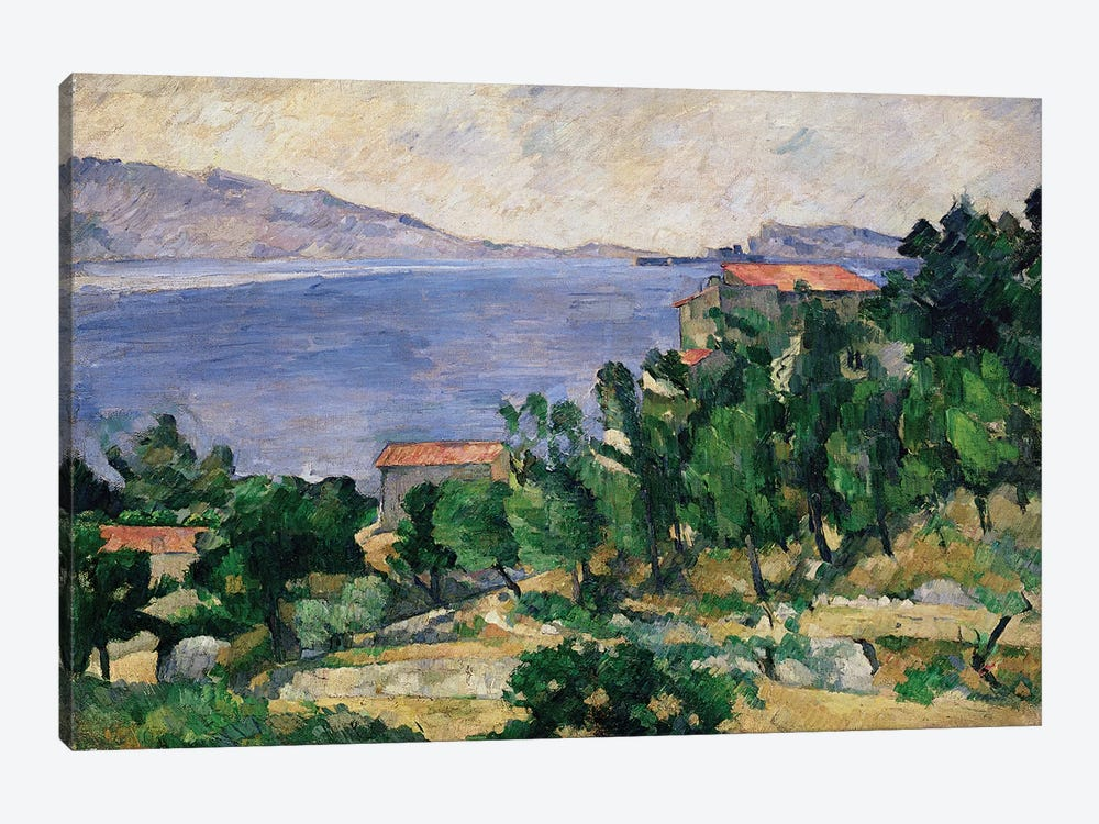 View of Mount Marseilleveyre and the Isle of Maire, c.1882-85  by Paul Cezanne 1-piece Canvas Wall Art