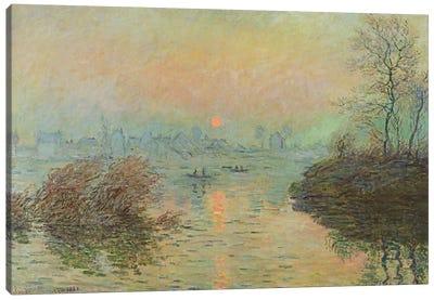 Sun Setting over the Seine at Lavacourt. Winter Effect, 1880  Canvas Print #BMN2298