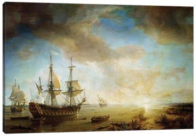Expedition of Robert Cavelier de La Salle  Canvas Art Print