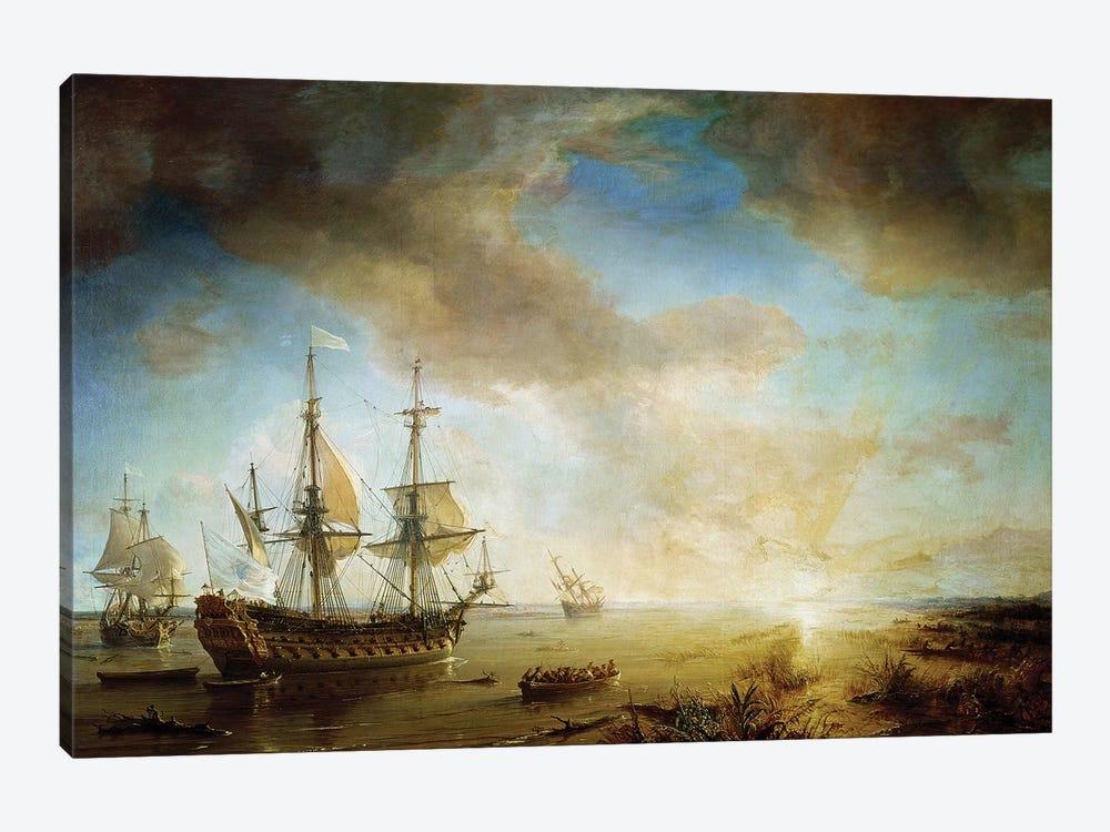Expedition of Robert Cavelier de La Salle  by Jean Antoine Theodore Gudin 1-piece Canvas Art