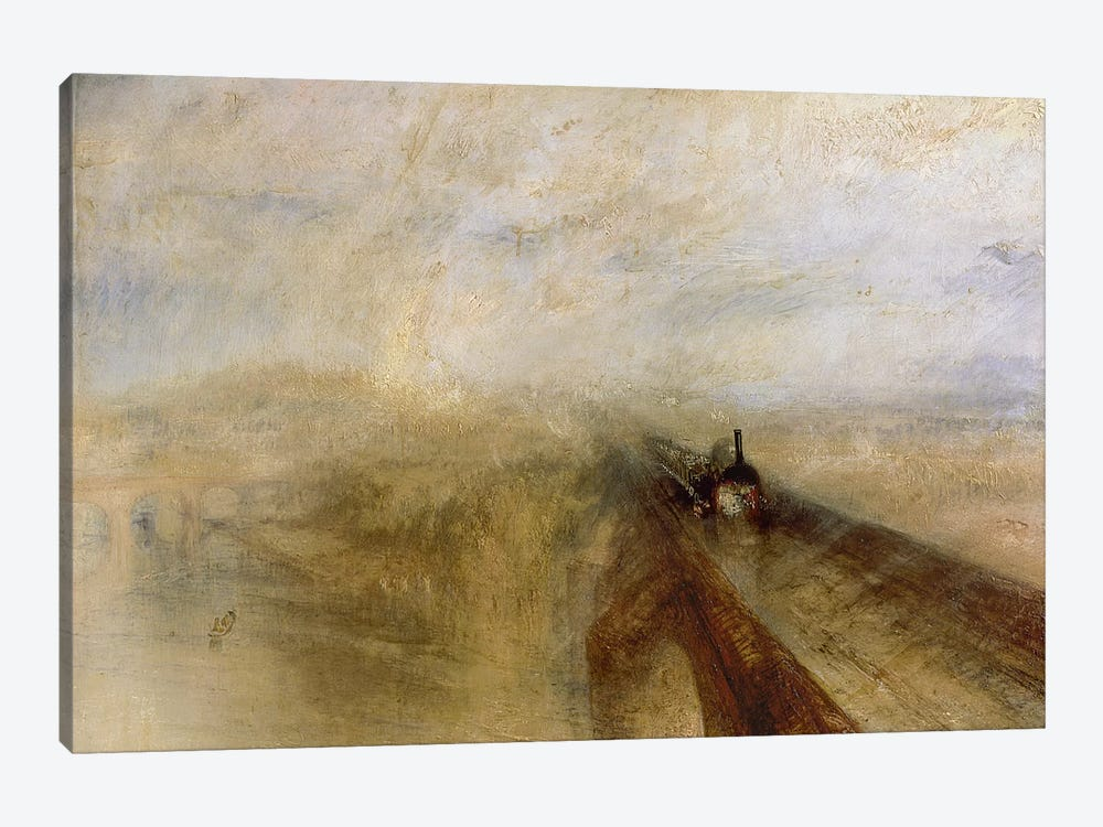 Rain Steam and Speed, The Great Western Railway, painted before 1844 by J.M.W. Turner 1-piece Art Print