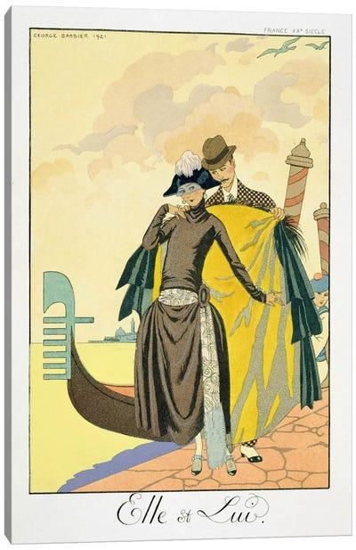 Elle et Lui, 1921 (pochoir print) Canvas Print #BMN22