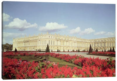 View of the garden facade  Canvas Art Print