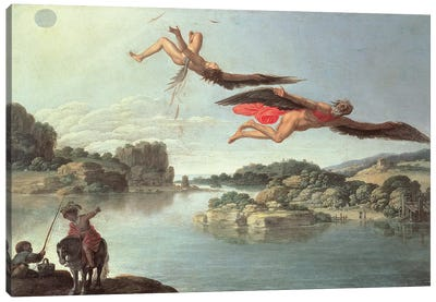 The Fall of Icarus  Canvas Art Print