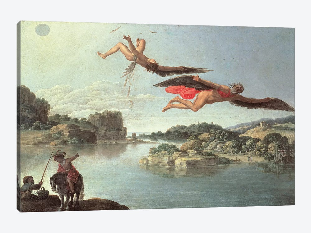 The Fall of Icarus  by Carlo Saraceni 1-piece Canvas Print