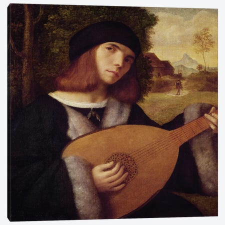The Lute Player  Canvas Print #BMN2315} by Giovanni de Busi Cariani Canvas Print