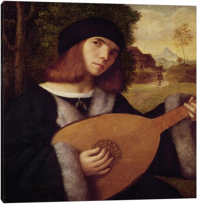 The Lute Player  Canvas Art Print