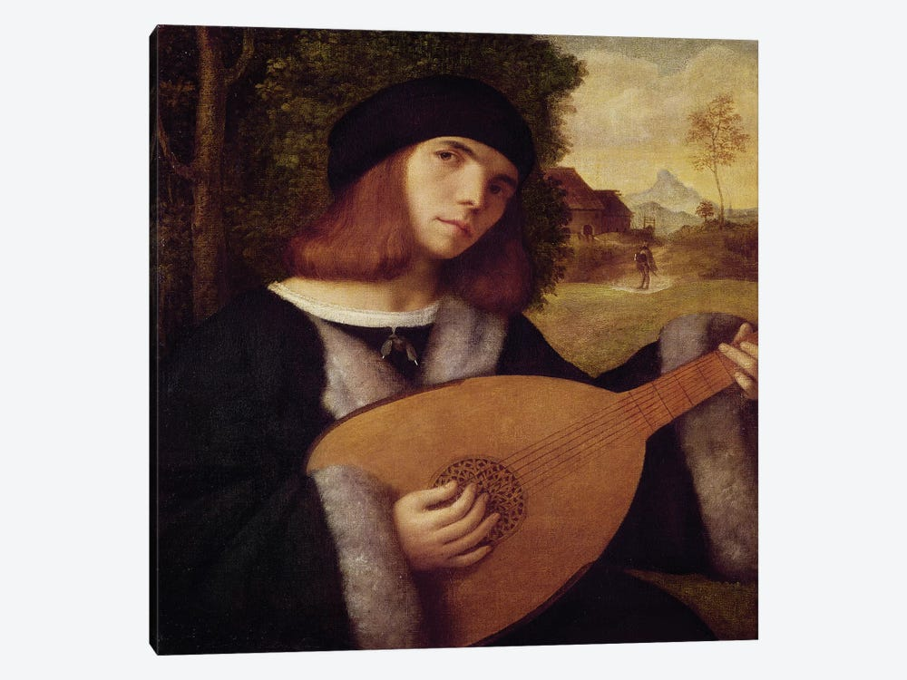 The Lute Player  by Giovanni de Busi Cariani 1-piece Canvas Art Print