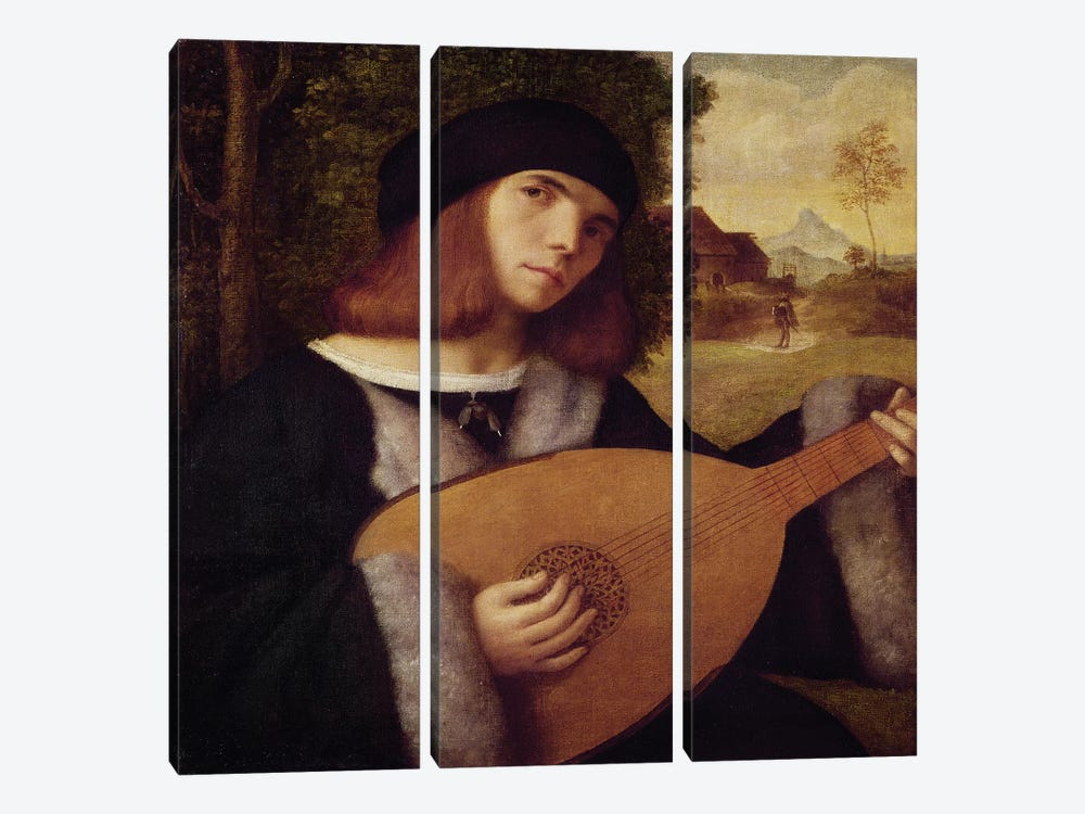 The Lute Player  by Giovanni de Busi Cariani 3-piece Art Print