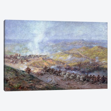 A Scene from the Russo-Turkish War in 1877-78, 1884  Canvas Print #BMN2316} by Pawel Kowalewsky Art Print