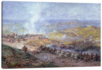 A Scene from the Russo-Turkish War in 1877-78, 1884  Canvas Art Print