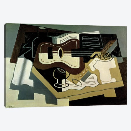 Guitar and Clarinet, 1920  Canvas Print #BMN2318} by Juan Gris Canvas Wall Art