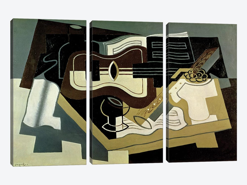 Guitar and Clarinet, 1920  by Juan Gris 3-piece Canvas Art