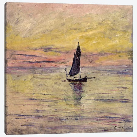 The Sailing Boat, Evening Effect, 1885  Canvas Print #BMN2322} by Claude Monet Canvas Print