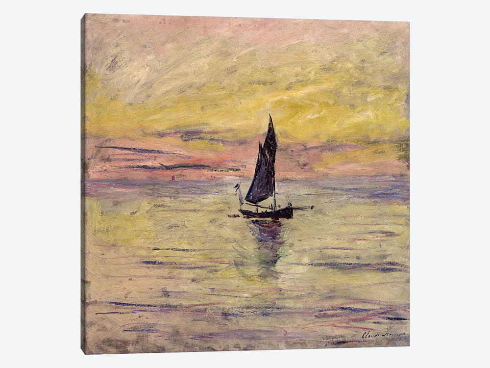 The Sailing Boat, Evening Effect, 1885  by Claude Monet 1-piece Canvas Art Print
