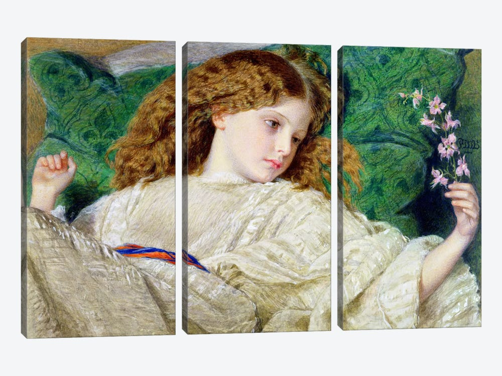 Dreams, c.1861 by Sir Frederick William Burton 3-piece Canvas Print