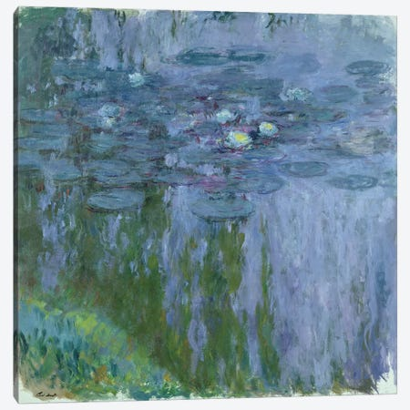 Waterlilies, 1916-19  Canvas Print #BMN2325} by Claude Monet Canvas Artwork