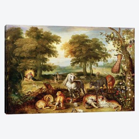 Terrestrial Paradise  Canvas Print #BMN2326} by Jan Brueghel the Elder Canvas Artwork