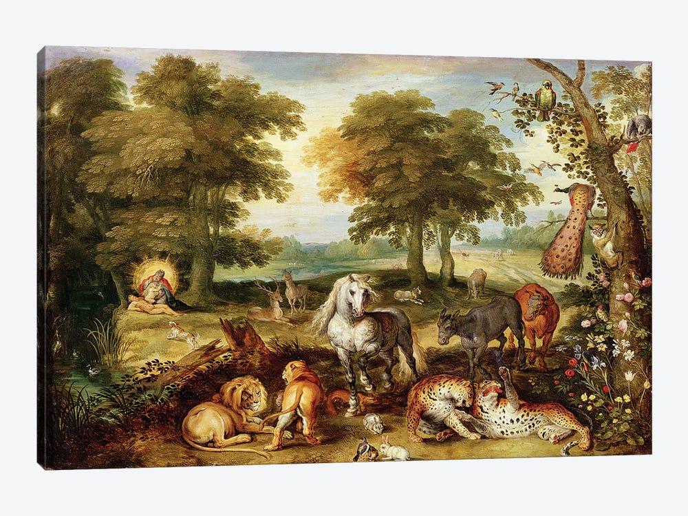 Terrestrial Paradise  by Jan Brueghel the Elder 1-piece Art Print
