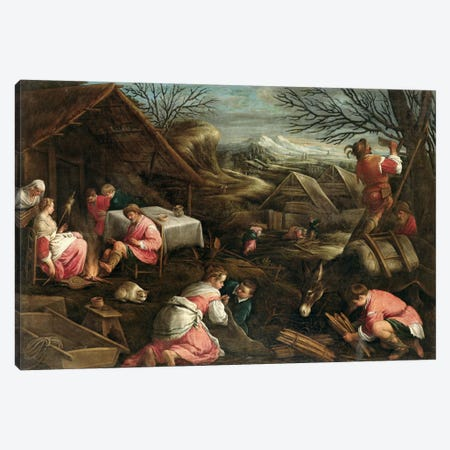 Winter  Canvas Print #BMN2329} by Jacopo Bassano Canvas Print