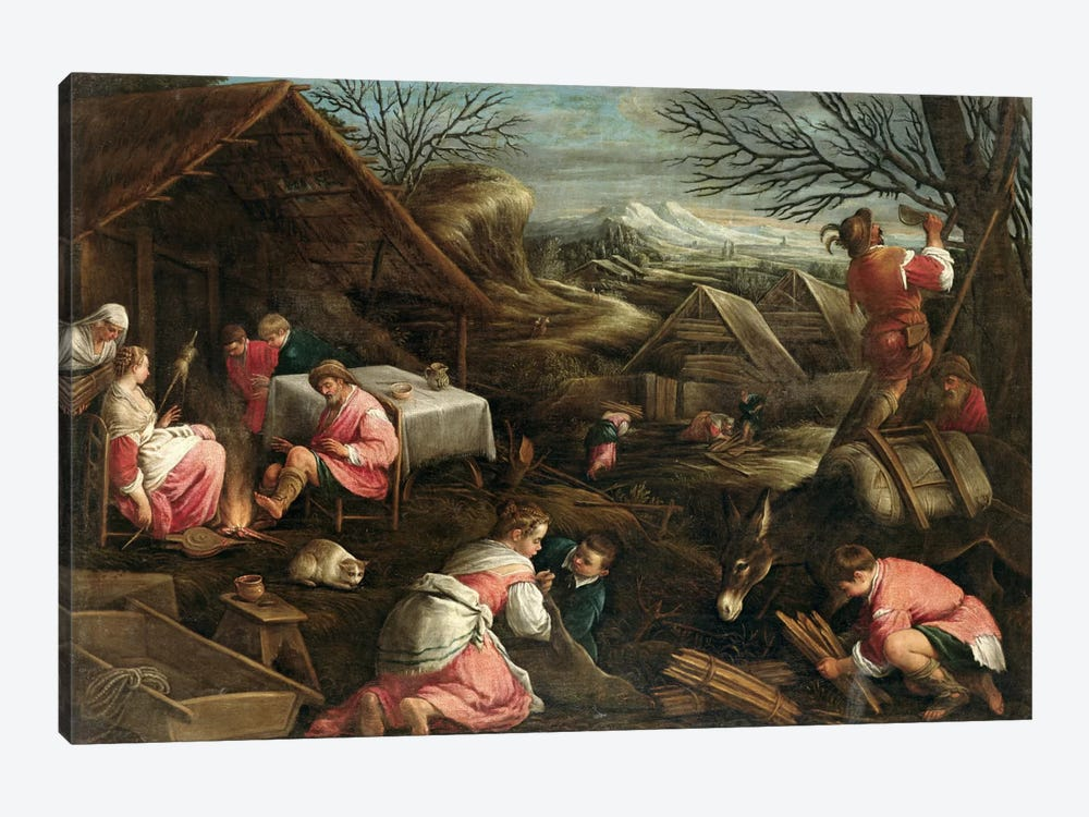 Winter  by Jacopo Bassano 1-piece Canvas Art