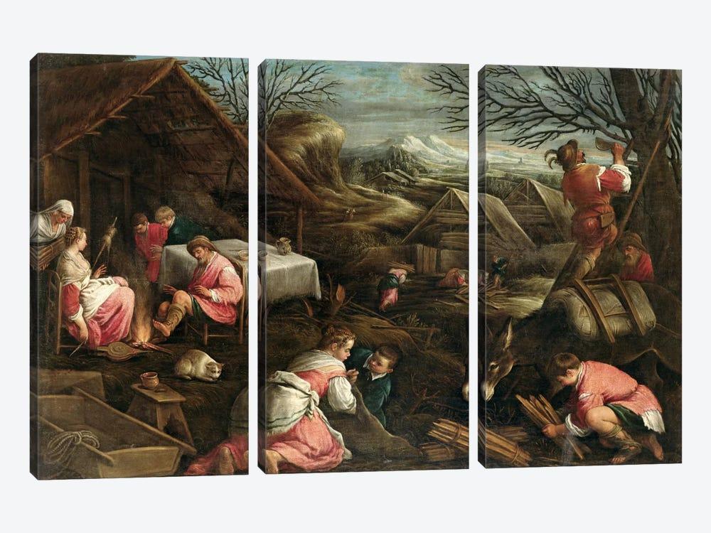 Winter  by Jacopo Bassano 3-piece Canvas Artwork