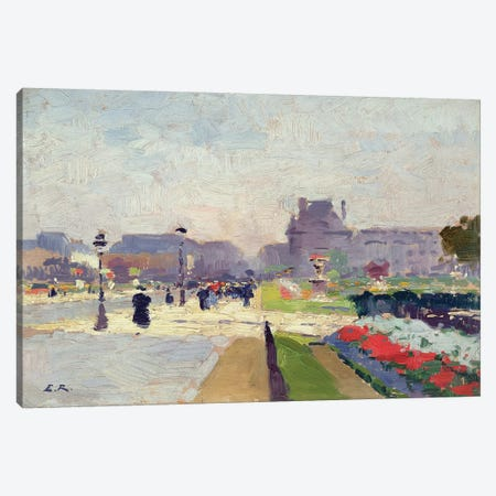 Avenue Paul Deroulede, Tuileries, Paris  Canvas Print #BMN2331} by Jules Ernest Renoux Canvas Artwork