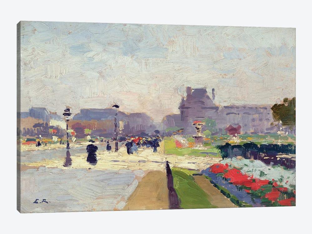 Avenue Paul Deroulede, Tuileries, Paris  by Jules Ernest Renoux 1-piece Canvas Print