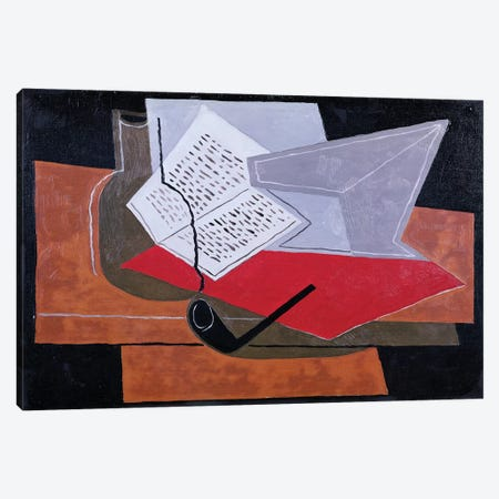 Bowl and Book  Canvas Print #BMN2333} by Juan Gris Canvas Artwork