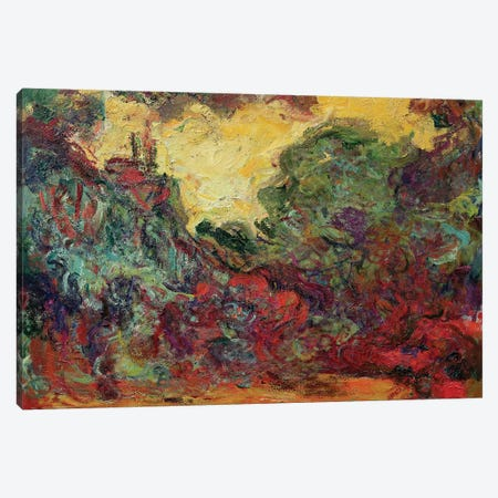The Artist's House from the Rose Garden, 1922-24  Canvas Print #BMN2335} by Claude Monet Art Print