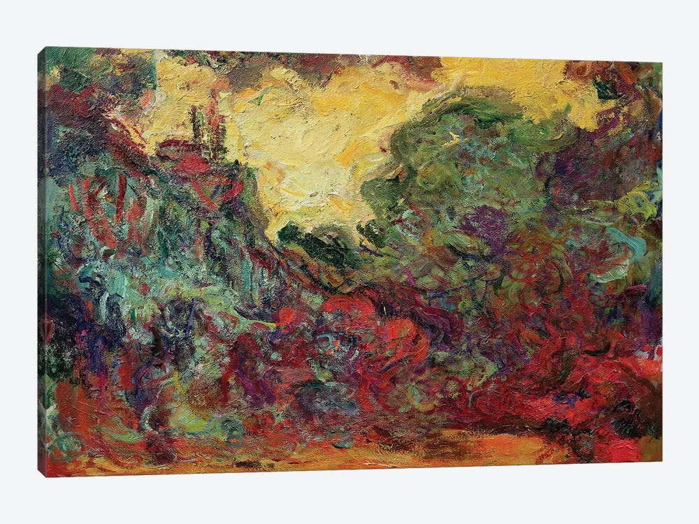 The Artist's House from the Rose Garden, 1922-24  by Claude Monet 1-piece Canvas Print
