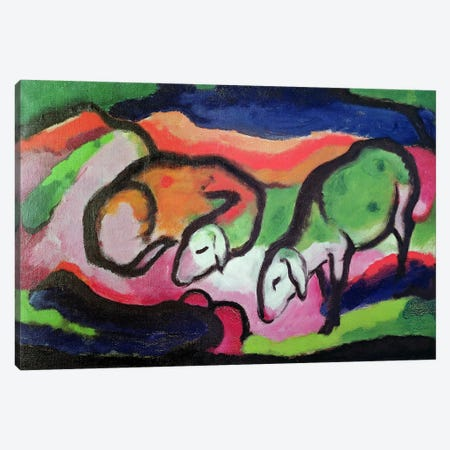 Sheep, 1912  Canvas Print #BMN2336} by Franz Marc Canvas Art Print
