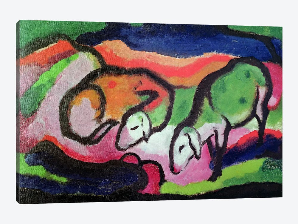 Sheep, 1912  by Franz Marc 1-piece Canvas Wall Art