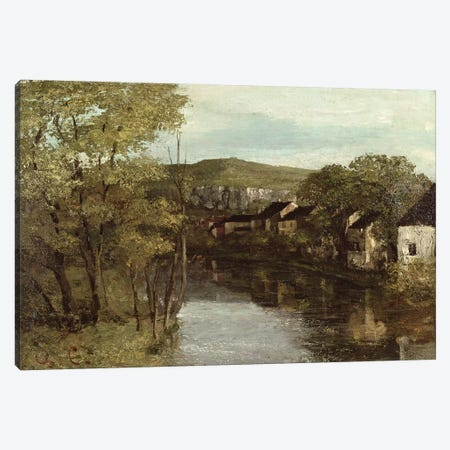 The Reflection of Ornans, c.1872  Canvas Print #BMN2337} by Gustave Courbet Art Print