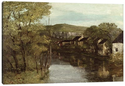 The Reflection of Ornans, c.1872  Canvas Art Print