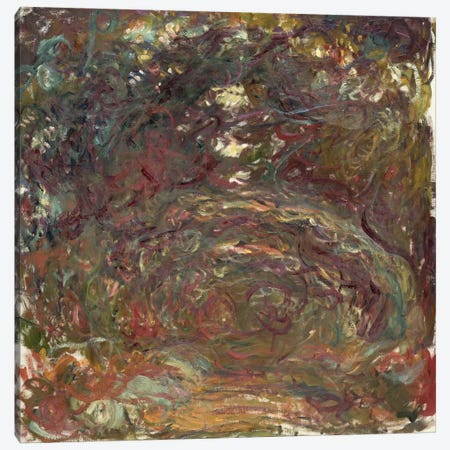 The Rose Path, 1920-22  Canvas Print #BMN2338} by Claude Monet Canvas Artwork