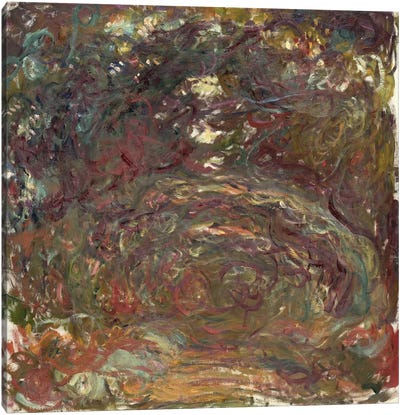 The Rose Path, 1920-22 by Claude Monet Canvas Artwork