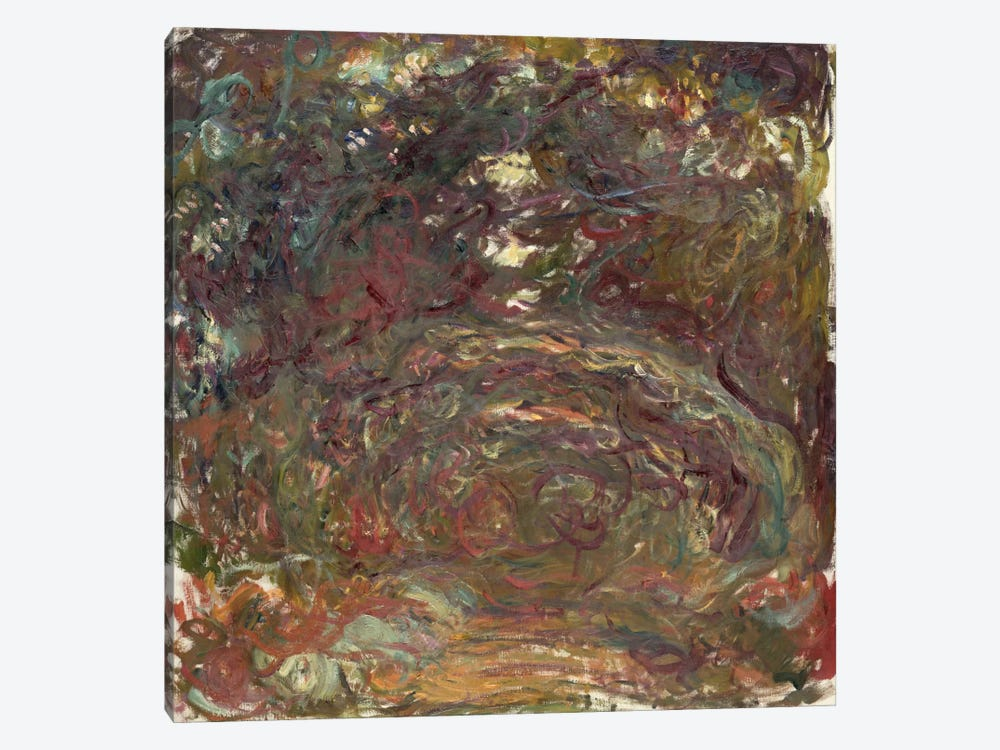 The Rose Path, 1920-22  by Claude Monet 1-piece Canvas Wall Art