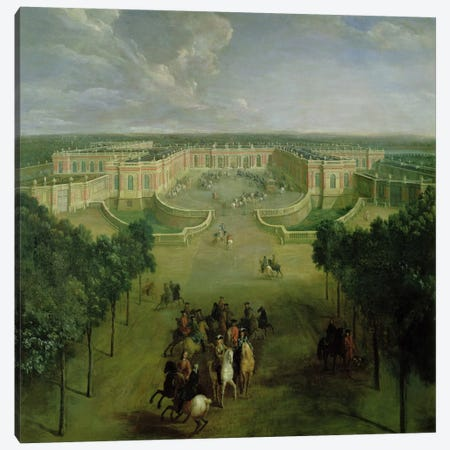 View of the Grand Trianon, 1722  Canvas Print #BMN2343} by Pierre-Denis Martin Canvas Print