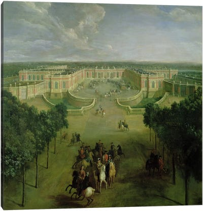 View of the Grand Trianon, 1722  Canvas Art Print