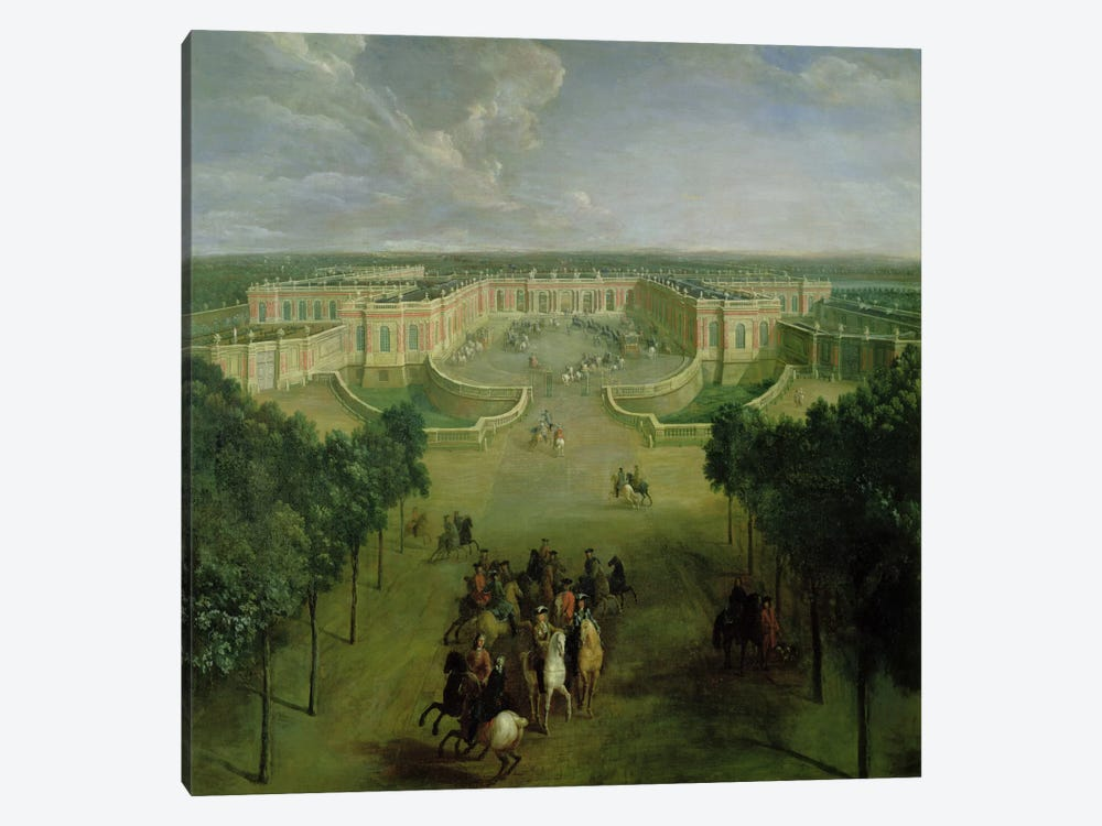 View of the Grand Trianon, 1722  by Pierre-Denis Martin 1-piece Canvas Artwork