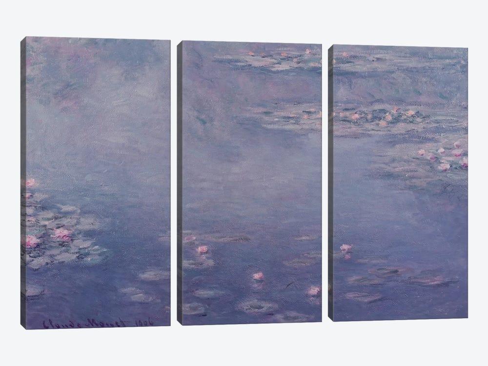 Nympheas, 1906  by Claude Monet 3-piece Art Print