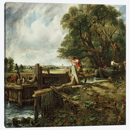 The Lock, 1824  Canvas Print #BMN234} by John Constable Canvas Art