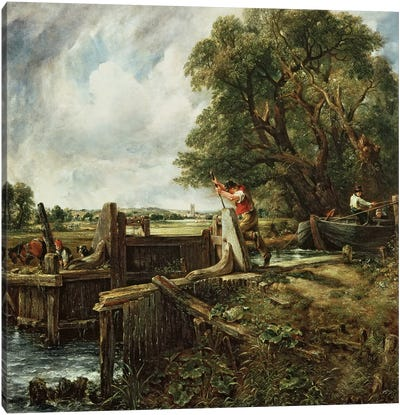 The Lock, 1824  Canvas Art Print