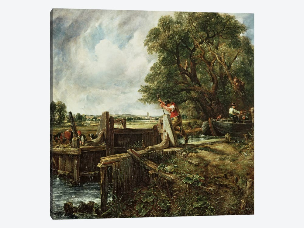 The Lock, 1824  by John Constable 1-piece Art Print