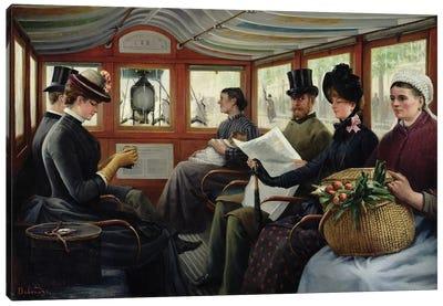 On the Omnibus, 1880  Canvas Art Print